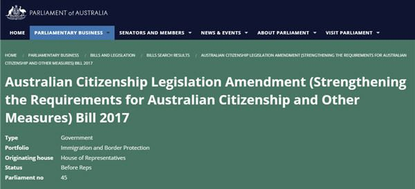 Proposed citizenship changes