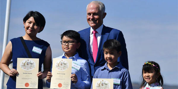 Turnbull Austtralian citizenship