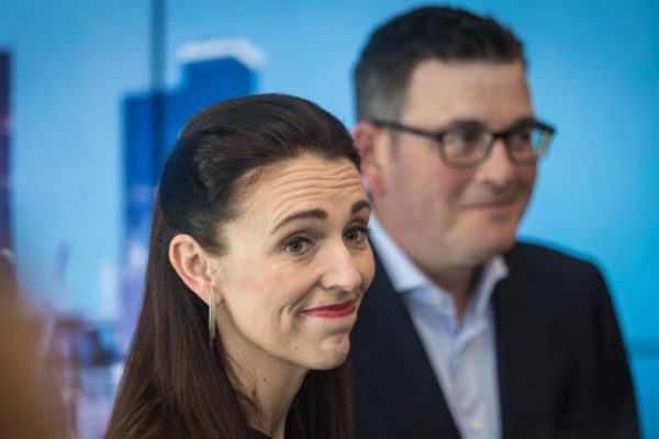 Ardern Morrison discuss migration policy